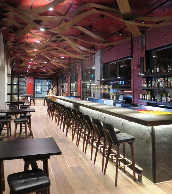 2nd floor bar at the new Vidrio in Raleigh - NC Triangle Dining