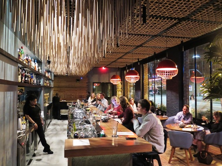 First floor bar at the new Vidrio in Raleigh - NC Triangle Dining