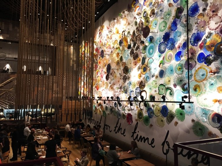 Amazing blown glass wall at the new Vidrio in Raleigh - NC Triangle Dining