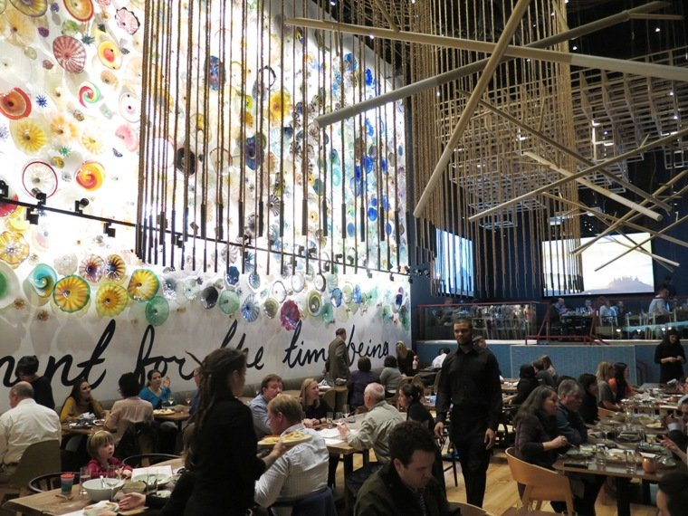 Dining room at Vidrio on Raleigh - nctriangledining.com