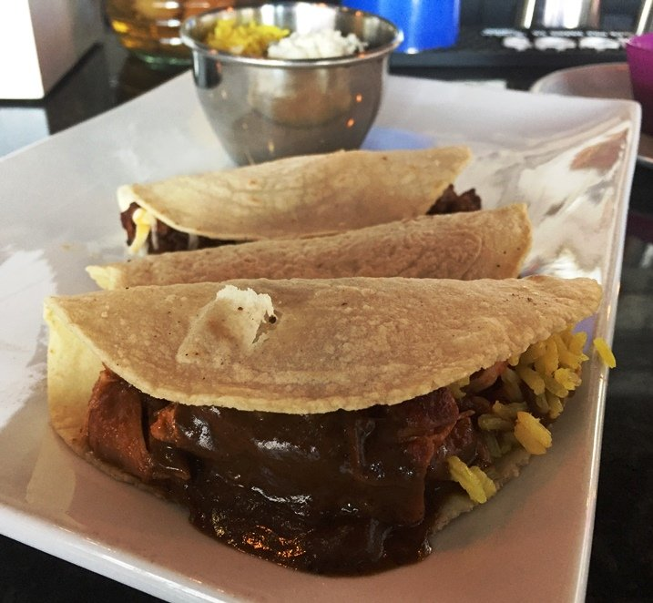 Taco trio at Viva DF in Morrisville - NC Triangle Dining