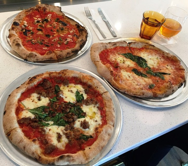 Trio of pies on visit #2 at Pizzeria Faulisi in Cary - NC Triangle Dining