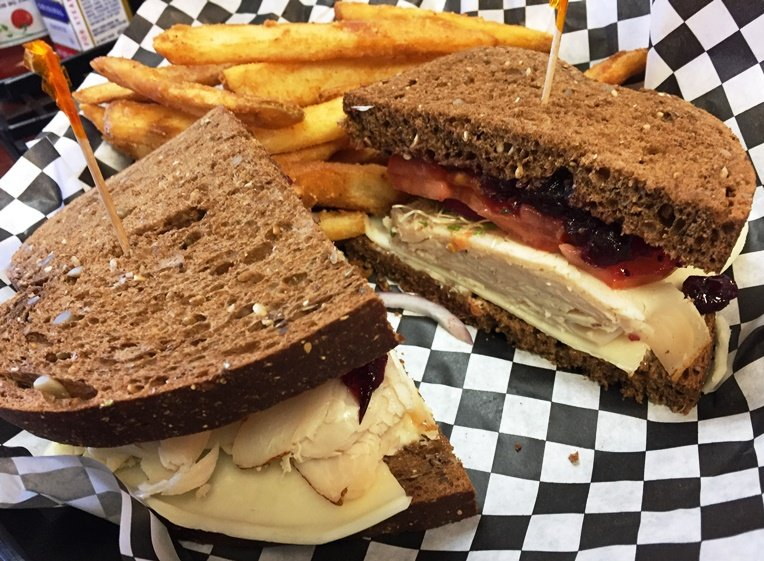 Turkey and cranberry sandwich at Williams Gourmet Kitchen in Durham - NC Triangle Dining