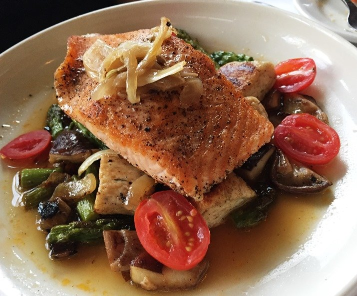 Scottish salmon with gnocchi at Bloomsbury Bistro in Raleigh - NC Triangle Dining