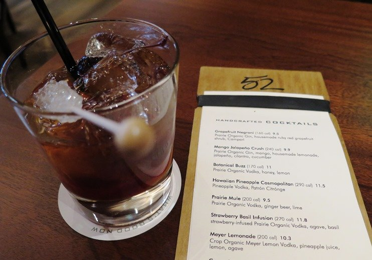 New fashioned cocktail at Seasons 52 in Raleigh - NC Triangle Dining