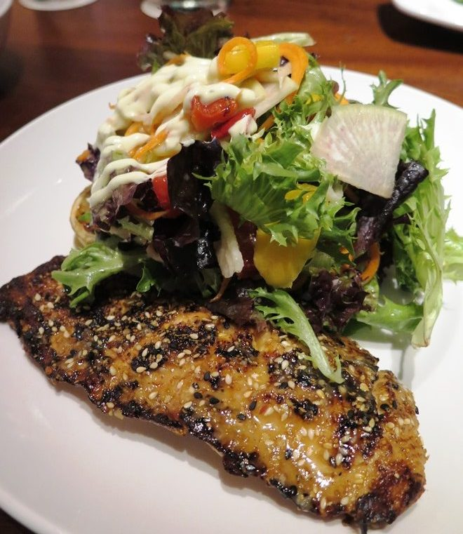 Grilled salmon salad at Seasons 52 in Raleigh - NC Triangle Dining