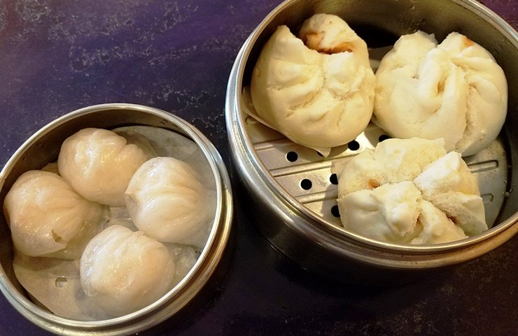Har-gow and steamed roast pork buns at Dim Sum House in Morrisville - NC Triangle Dining