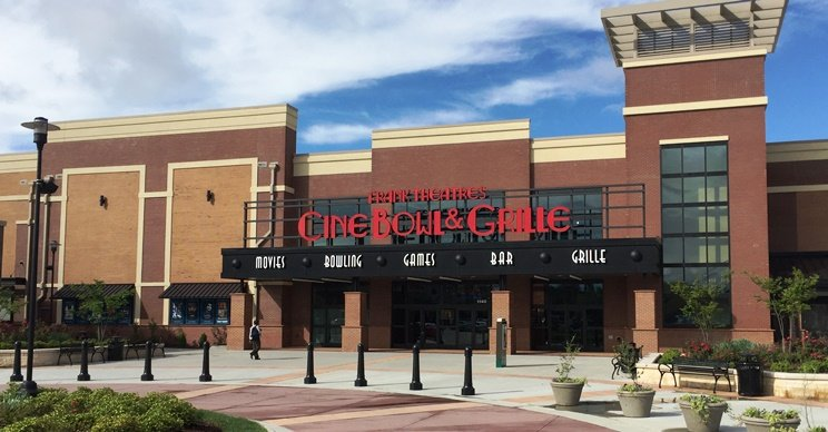 Front of Frank Theatres Cinebowl in Cary - NC Triangle Dining