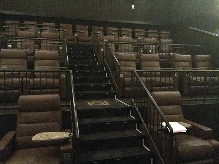 Seating at Frank Theatres Cinebowl in Cary - NC Triangle Dining