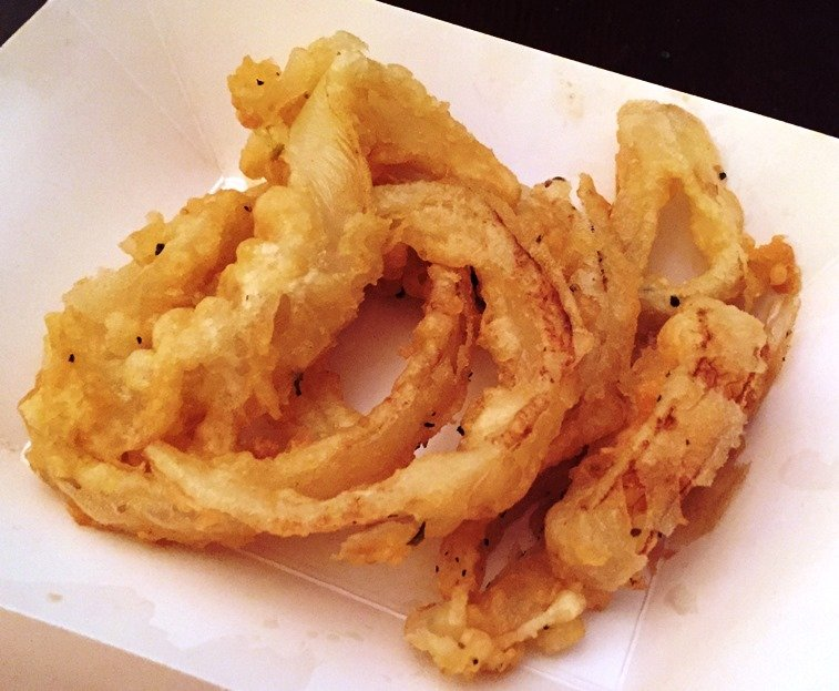 Onion rings from Merry Franksters food trailer - NC Triangle Dining