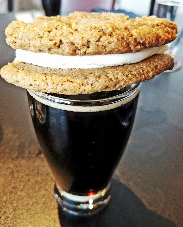 Beer sandwich cookie at Mystery Brewing Public House in Hillsborough - NC Triangle Dining
