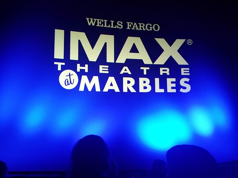 Stellar screen and sound system for IMAX Theatre at Marbles in Raleigh- NC Triangle Dining