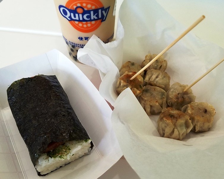 Musubi and shumai from Quickly in Morrisville - NC Triangle Dining