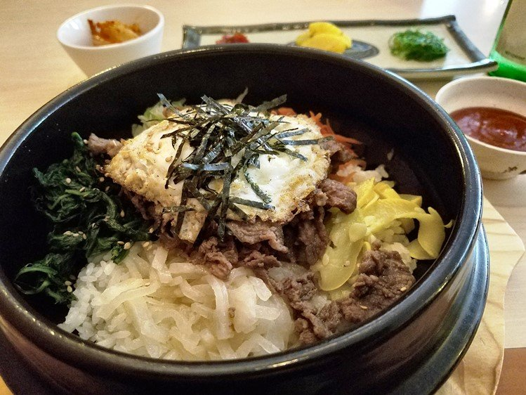 Bibimbop with bulkogi at Aroma Korea in Cary - NC Triangle Dining