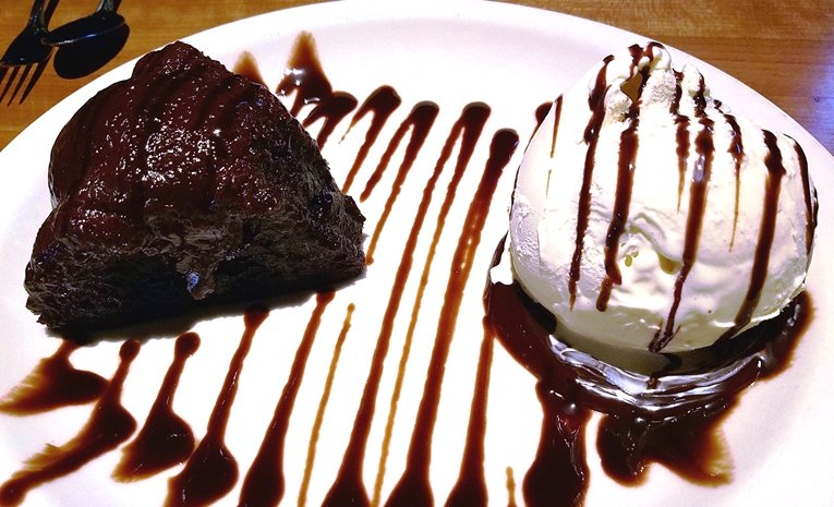 Molten chocolate cake at J. Alexander's in Raleigh - NC Triangle Dining