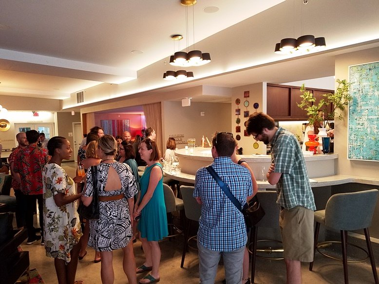 The new Studio lounge at the Unscripted Hotel Durham - NC Triangle Dining