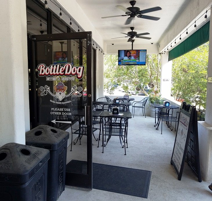 Patio at Bottledog Bites & Brews in Cary - NC Triangle Dining