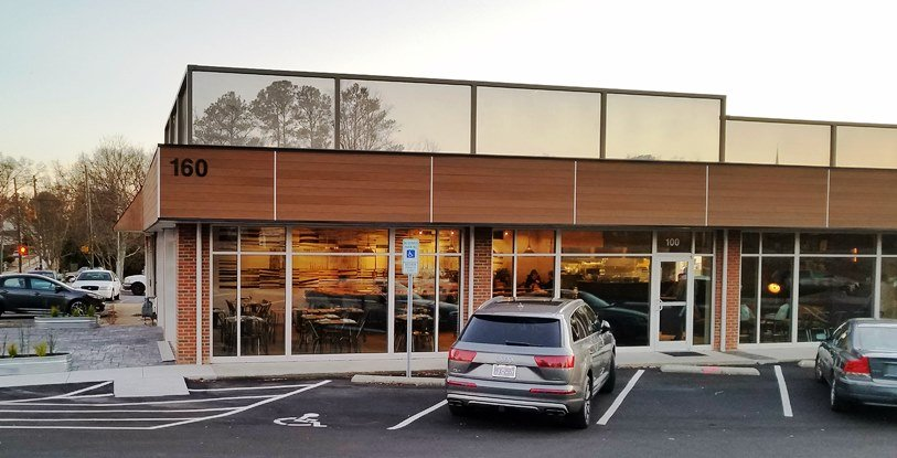 Front of the Postmaster in Cary - nctriangledining.com