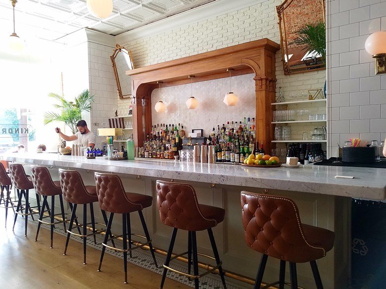 Beautiful bar at Kindred in Davidson, NC - nctriangledining.com