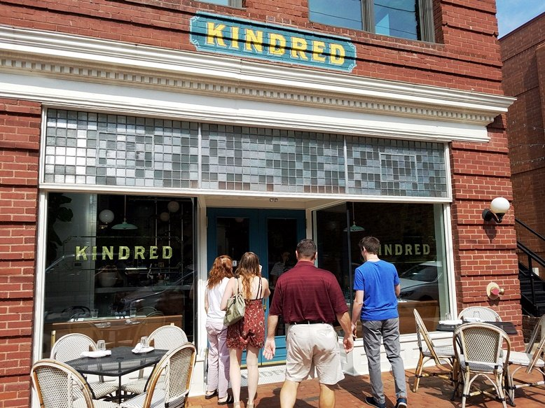 Front of Kindred in Davidson, NC - nctriangledining.com