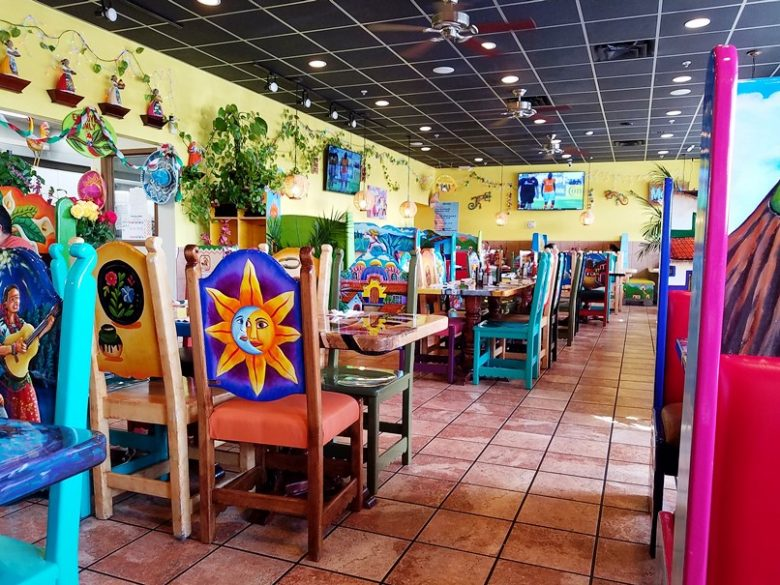 Bright dining room at Las Marias Tacos y Pupusas in Raleigh - nctriangledining.com