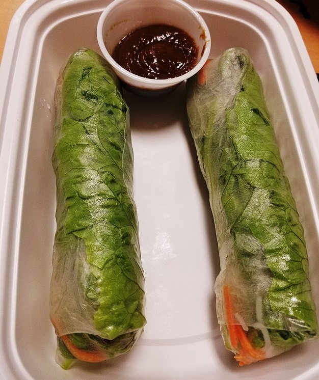 Summer rolls with pork belly at Yin Dee in Morrisville - nctriangledining.com