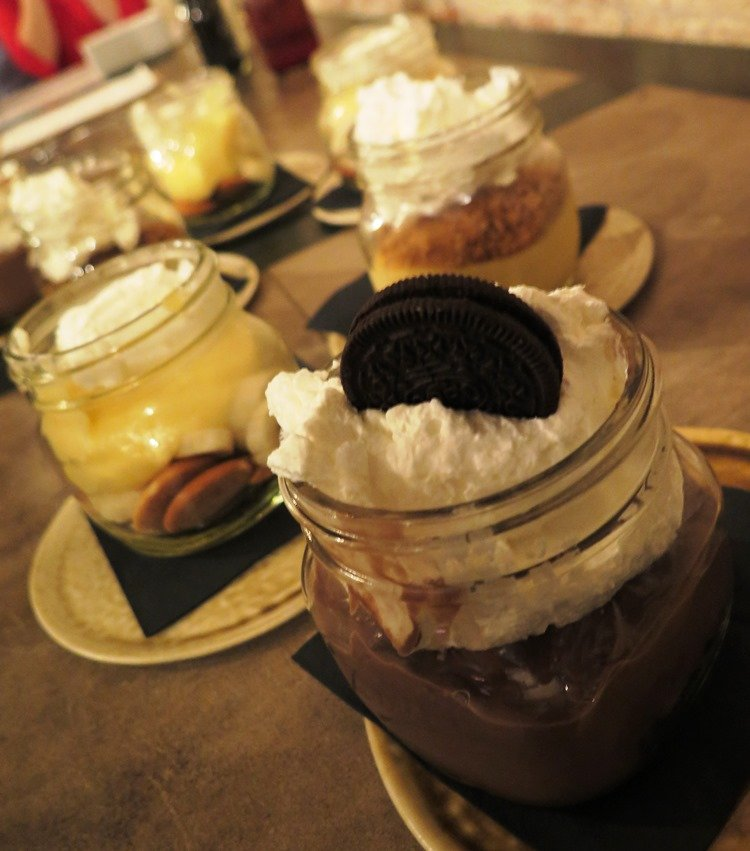 Mason jar desserts at It's a Southern Thing in Durham - nctriangledining.com