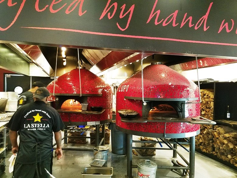 Pizza ovens at La Stella Wood Fired in Raleigh - nctriangledining.com
