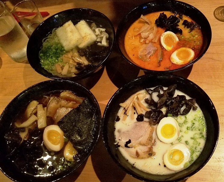 Ramen selection at Sono Sushi in Raleigh - nctriangledining.com