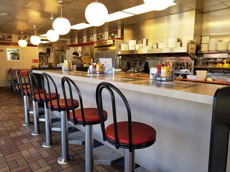Counter at S. Miami Blvd Waffle House in Durham - nctriangledining.com