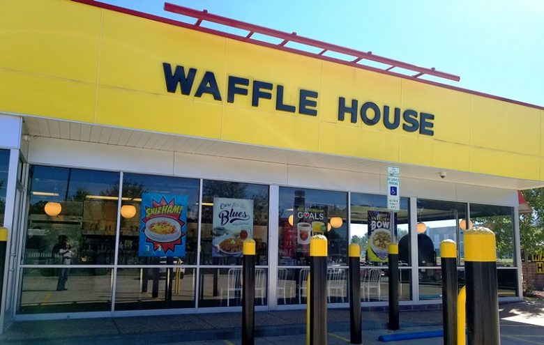 Front of Waffle House in Durham - nctriangledining.com