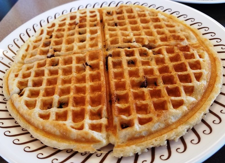 Pecan waffle at S. Miami Blvd Waffle House in Durham - nctriangledining.com