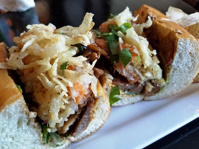 Pork banh mi at Saigon Grill & Bar in Raleigh - nctriangledining.com