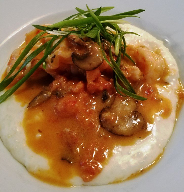 Shrimp and grits at Poole's Diner in Raleigh - nctriangledining.com