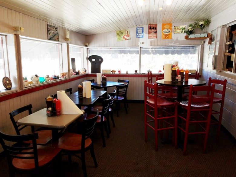Dining area at Smokey's BBQ Shack in Morrisville - nctriangledining.com