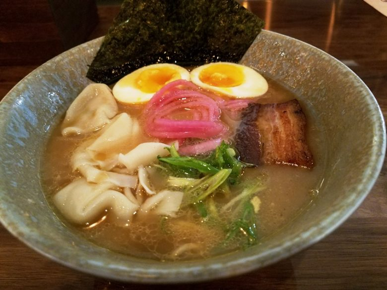 Bowl of tonkotsu ramen at Tonbo Ramen in Raleigh - nctriangledining.com
