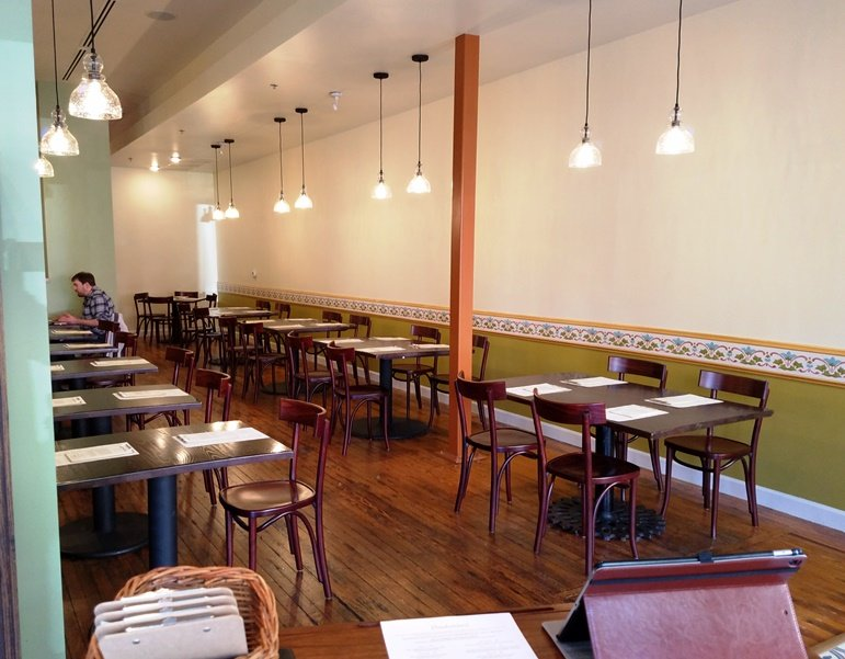 Dining room at COPA in Durham – nctriangledining.com