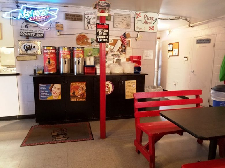 Interior of Smokey's BBQ Shack in Morrisville - nctriangledining.com