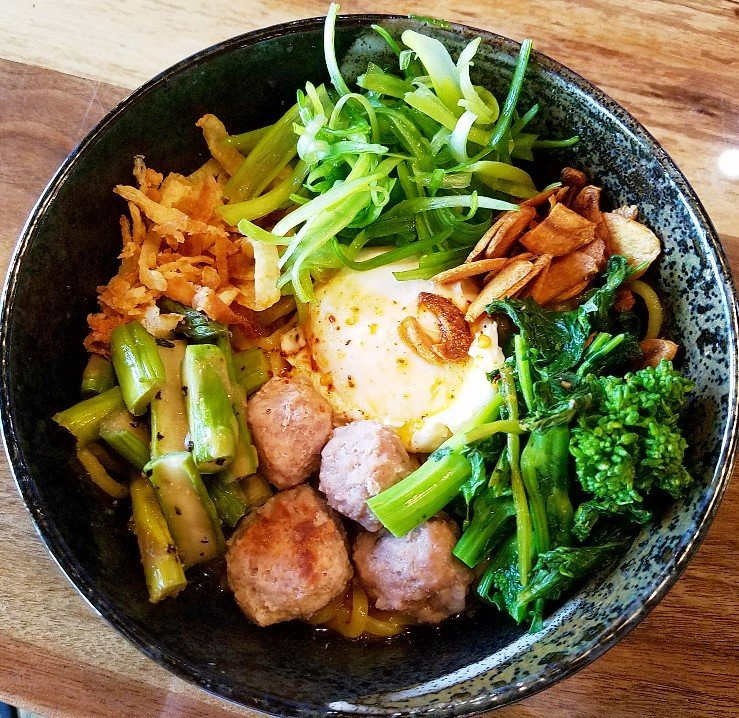 Bowl of mazemen at Tonbo Ramen in Raleigh - nctriangledining.com