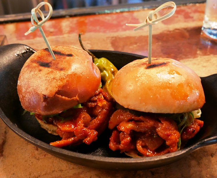 Spicy pork sliders at Seoul 116 in Raleigh - nctriangledining.com