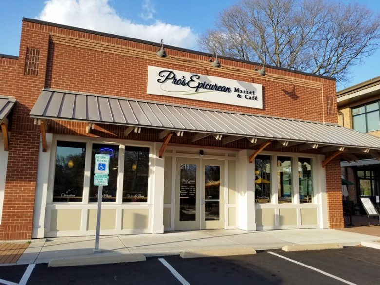 Front of Pro's Epicurean Market & Cafe, Cary - nctriangledining.com