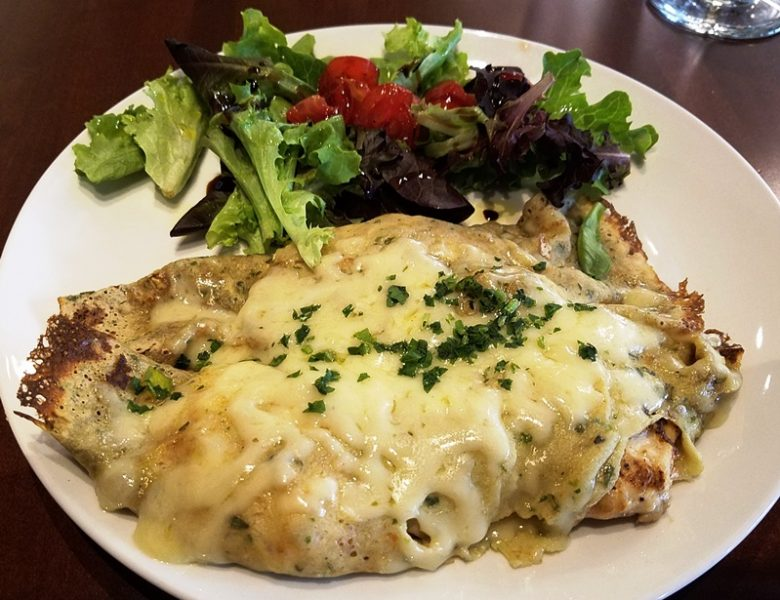 Parisienne crepe (chicken, mushrooms) at Pro's Epicurean Market and Cafe in Cary - nctriangledining.com