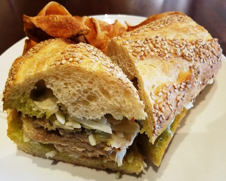 Roast porchetta sandwich at Pro's Epicurean Market and Cafe in Cary - nctriangledining.com