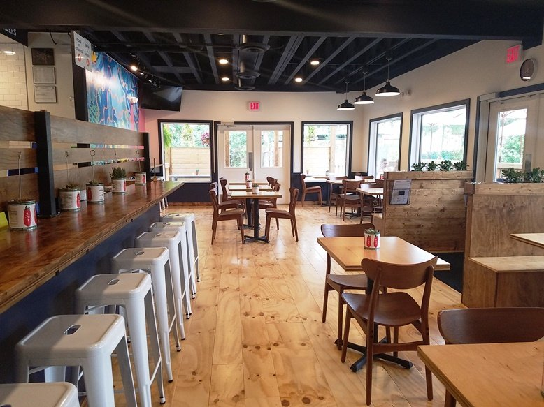 Plenty of seating at Eastcut Sandwich Bar in Durham - nctriangledining.com