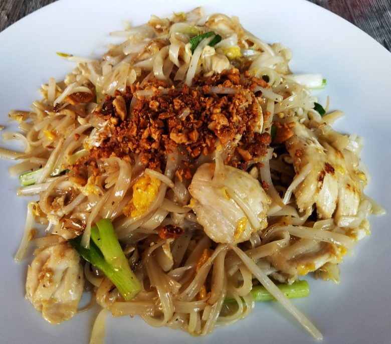 Chicken pad thai at Thai @ Main Street in Durham - nctriangledining.com