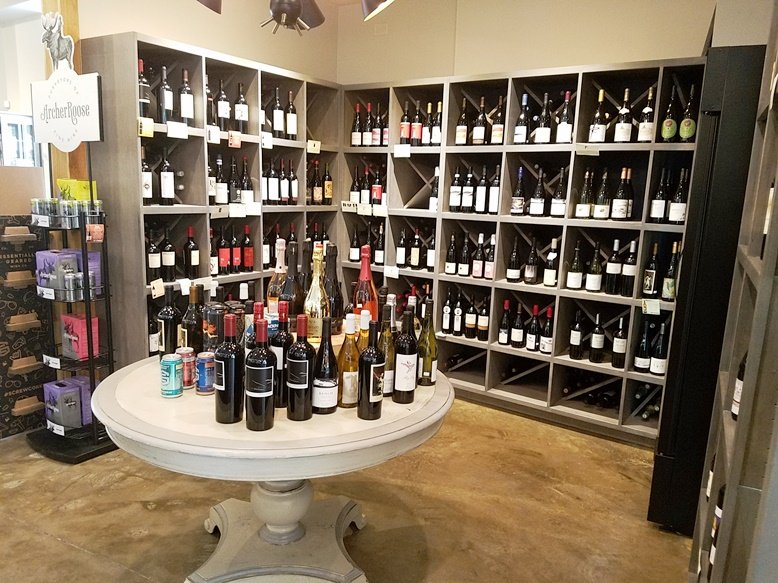 Wine selection at Brookside Market & Pizza in Raleigh - nctriangledining.com