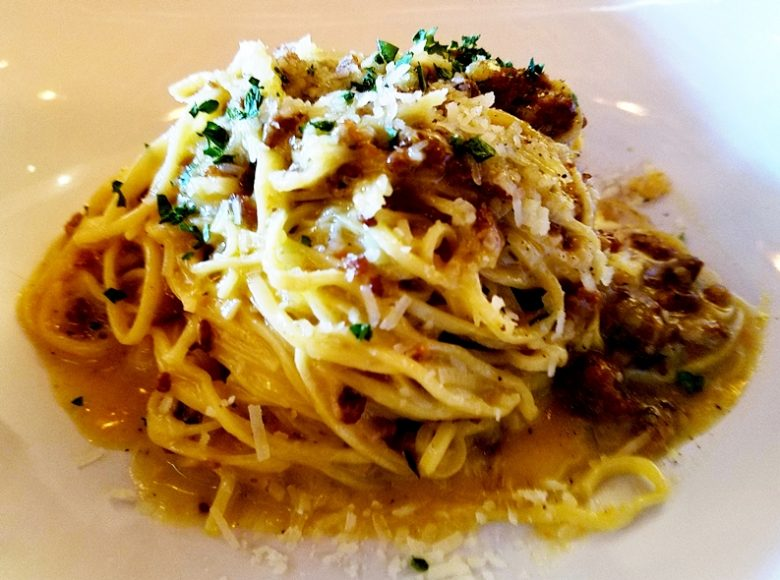 Linguine carbonara at Cucciolo in Durham - nctriangledining.com