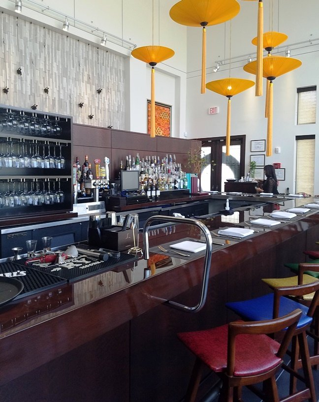 Bar at G.58 Cuisine in Morrisville - nctriangledining.com