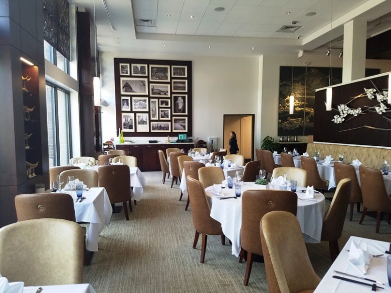 Fancy dining room at G.58 Cuisine in Morrisville - nctriangledining.com