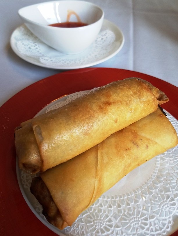 Spring rolls with duck at G.58 Cuisine in Morrisville - nctriangledining.com